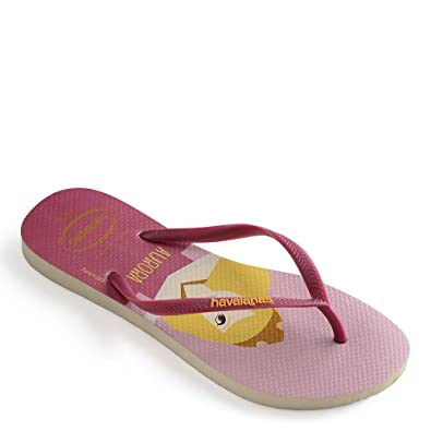 Havaianas Women's Slim Princess Flip Flops Beige/Lavender Blue Sandal 41/42 Brazil (US Men's 9/10, Women's 11/12) M