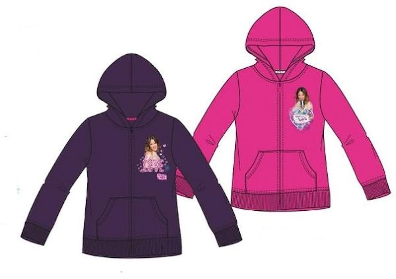 Disney Violetta Sweatjacke m. Kapuze / Kapuzenpullover * Pink o. Dunkellila *Gr.116 -152