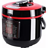 Aobosi Electric Multi-Cooker, 6L/1000w, 20-in-1 Digital Programmable Electric Pressure Cooker with BPA Free Stainless Steel Inner Pot, Free Recipe Book and Extra Sealing Ring & Steamer Rack