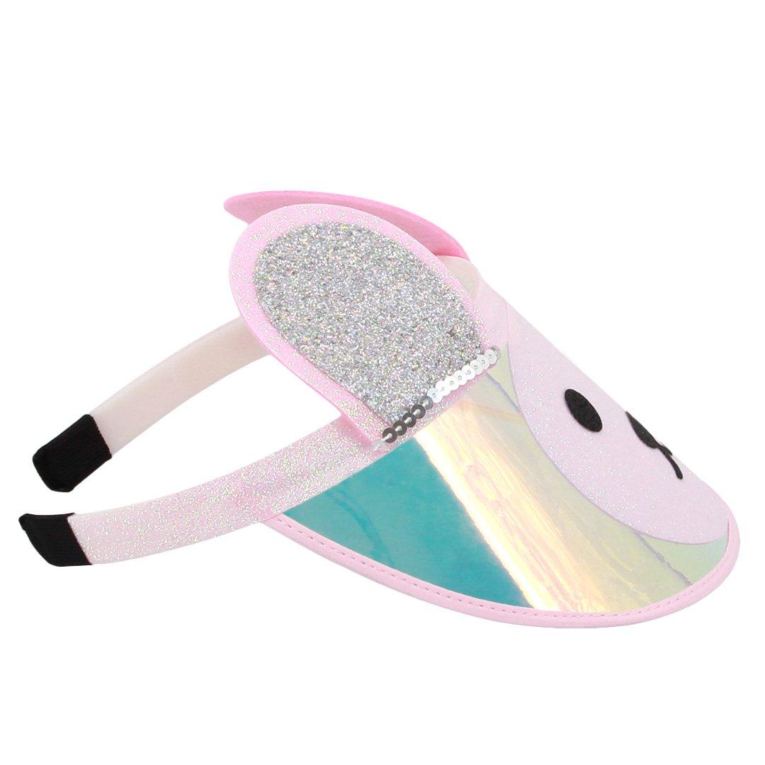 Surkat Kids Cute Bear Sun Visors Hologram Wide Brim UV Protective Sportswear Visors Sunhat(Pink) by Surkat (Image #5)