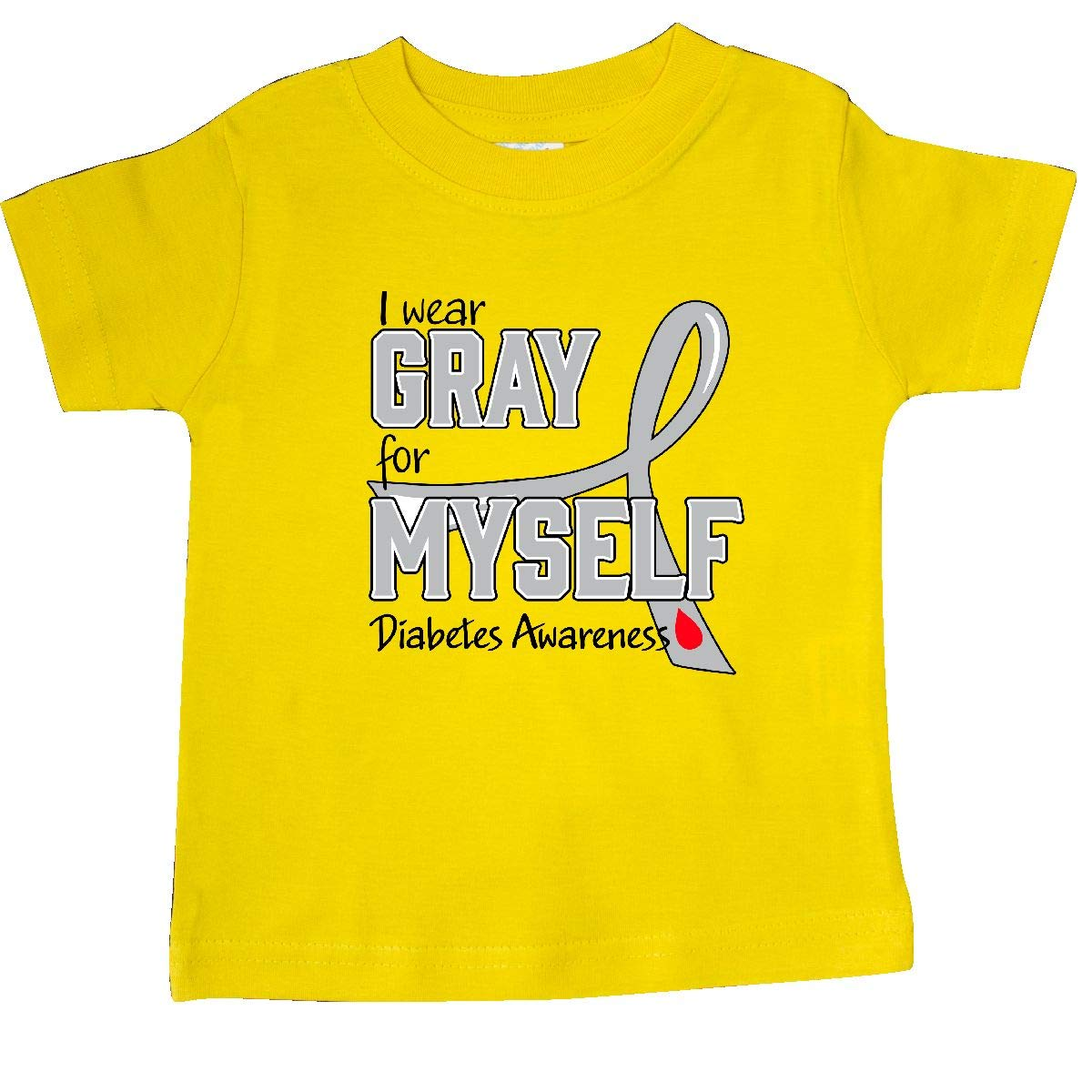 inktastic I Wear Gray for Myself Diabetes Awareness Baby T-Shirt