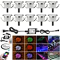 """LED Deck Lights Kit, 30pcs Φ1.22"""" WiFi Wireless Smart Phone Control Low Voltage Recessed RGB Deck Lamp In-ground Lighting Waterproof Outdoor Yard Path Stair Landscape Decor, Fit for Alexa,Google Home"""