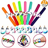 Mcree 17Pcs Unicorn Party Set-8 Slap Bracelets 9 Slime Beads, Unicorn Party Supplies Kids Party Favors Decor Novelty Toy, Slim Sweety Candy Color Girls Phone Decor, Diy Crafts Ornament Scrapbook