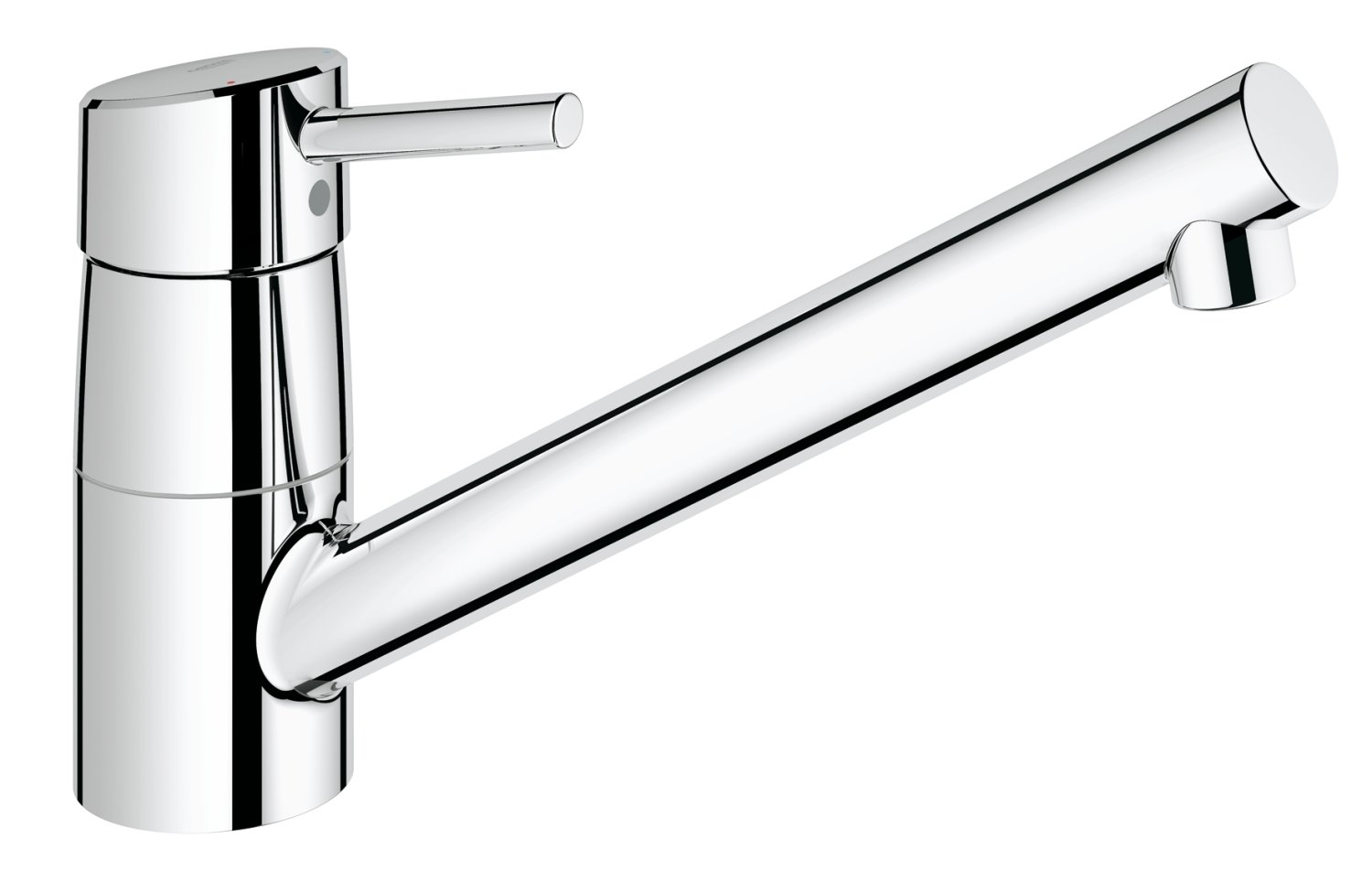GROHE 32659001 Concetto Kitchen Tap (Low Spout, 140 Degree Swivel ...