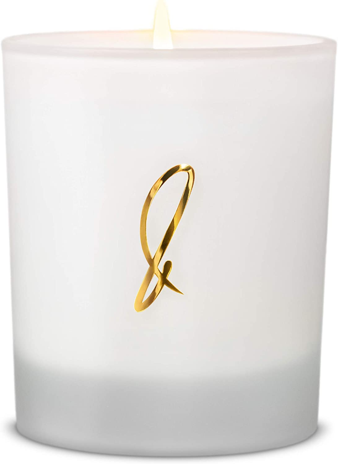 Vanilla Bean Scented Soy Candles, Premium All-Natural Soy Wax Candles | Luxury Decorative Frosted White Candles | Long Lasting, Non-Toxic, Clean Burn Aromatherapy Candles, White Scented Candles