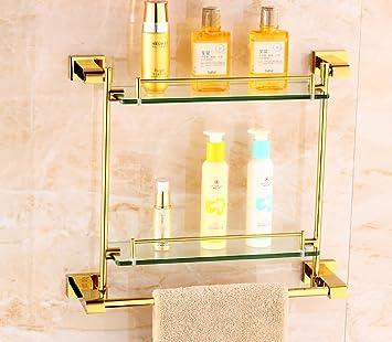 Badezimmer Regal Badezimmer Regal Europäische Stil Gold Glas Regale ...