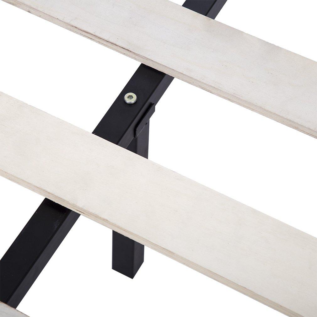 Bed Frame Metal Platform Bed Frame 14 Inch Heavy Duty Wood Slat Steel Frame Twin Size by BestMassage (Image #3)