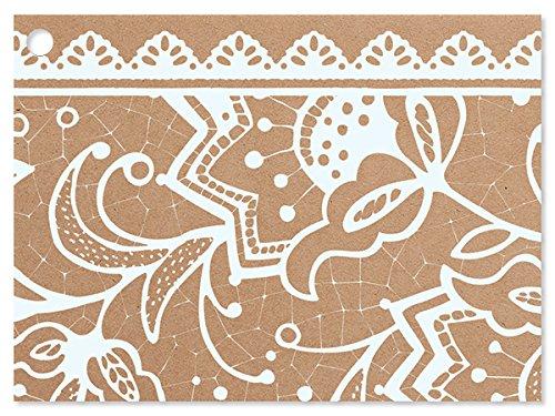 [해외]레이스 국경 테마 기프트 카드 (6 팩) 3 ~ 3 × 4 \\ / Lace Borders Theme Gift Cards (6 Pack ) 3-34x2-34