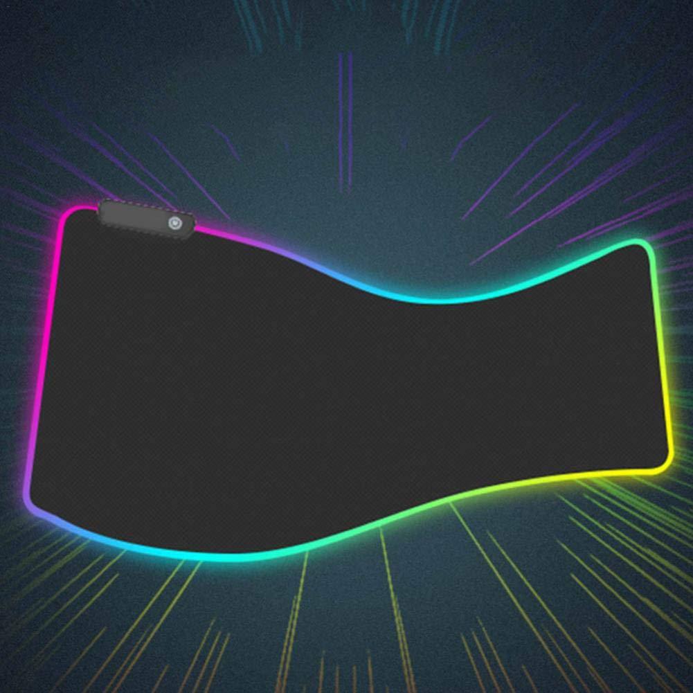 Base en Caoutchouc antid/érapant Clavier dordinateur Pad Mat pour Ordinateur PC et Mac Les Joueurs RGB Souple Gaming Mouse Pad Grand LED Lumineuse Extended Tapis de Souris