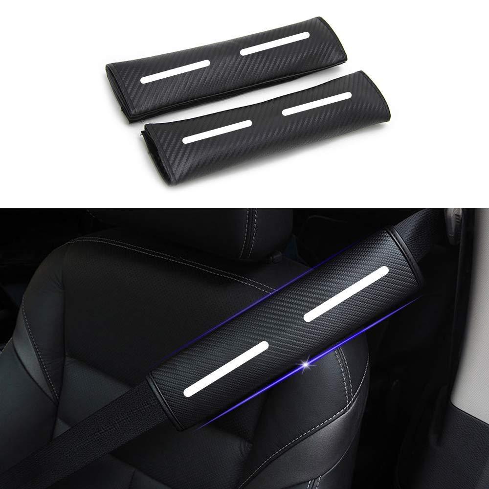Dise/ñado para k3 1 par Almohadillas para Cintur/ón de Seguridad Viaje Cintur/ón de seguridad Coj/ín de hombro con pegatinas reflectantes