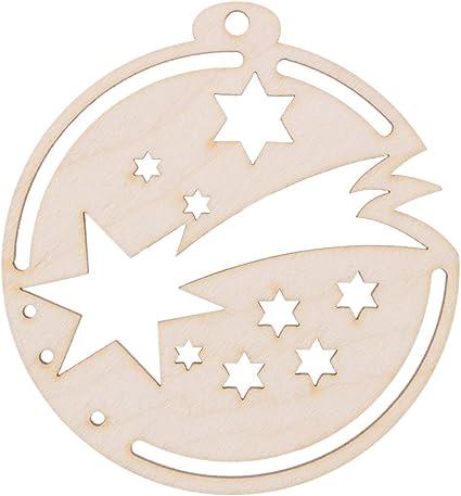 Stella Cadente Di Natale.Bartu Decorazione Natalizia Per Albero Di Natale Con Stella Cadente In Legno Amazon It Casa E Cucina