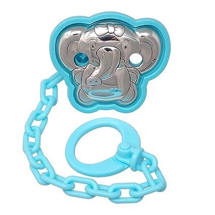 Pinza chupete bebé motivo elefante lazo plata Ley 925m azul ...