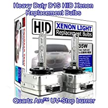 ProGear Tech D1S D1R HID Xenon Headlight Replacement Bulbs 35W High Low Beam (Pack of 2) (10000K Brilliant)