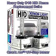 ProGear Tech D1S D1R HID Xenon Headlight Replacement Bulbs 35W High Low Beam (Pack of 2) (8000K Iceberg)