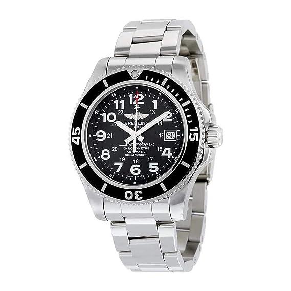 Breitling Superocean II 42 automático negro Dial acero inoxidable acero Mens reloj a17365 C9-bd67ss: Amazon.es: Relojes
