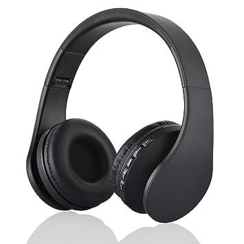 Auriculares Inalámbricos, Yeehyc Estéreo Plegable Auricular Cascos Bluetooth con Micro Soporte Radio FM para Teléfonos Inteligentes Tablet PC Notebook ...