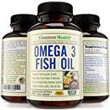 Vimerson Health Omega 3 Fish Oil Pills, All Natural, Non-Gmo, Gluten Free, Mercury Free. Supports Brain, Memory, Focus, Cognition, Heart, Joints, Eyes & Skin. 60 Lemon Flavor Sofgels. Made in the USA