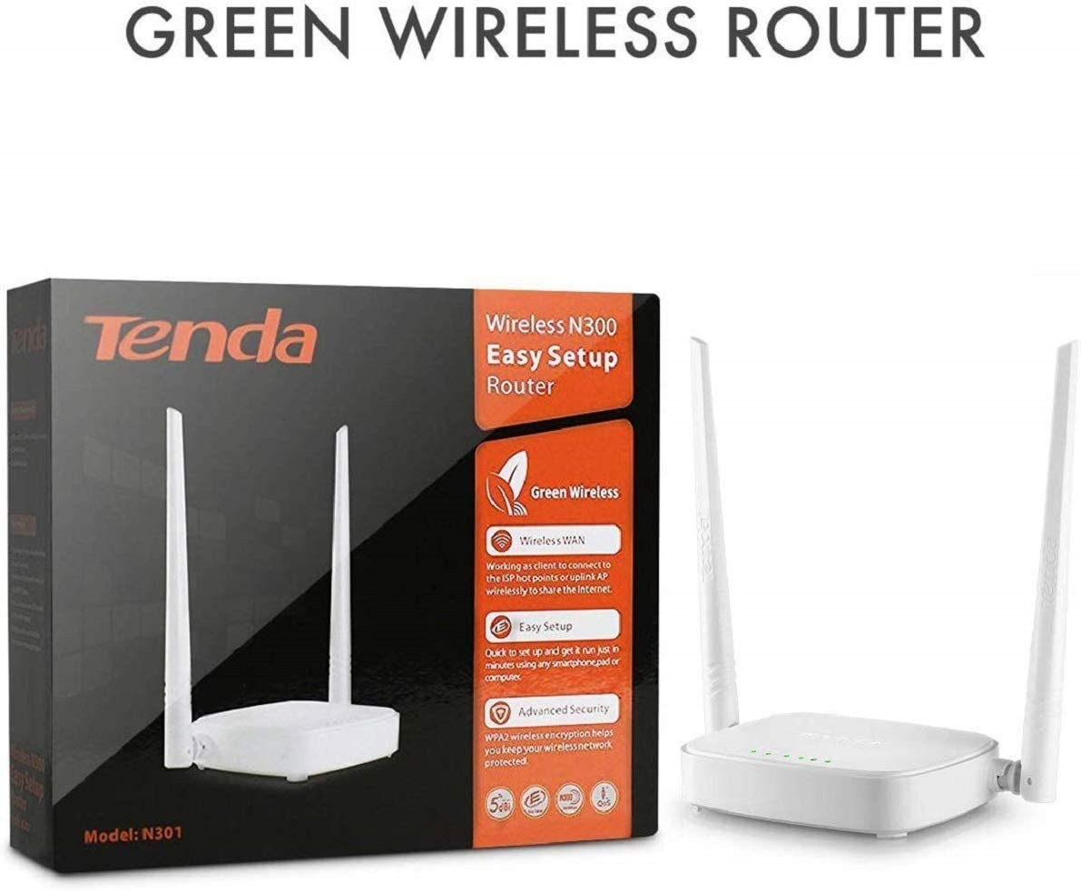 Tenda N301 Wireless N300 Easy Setup