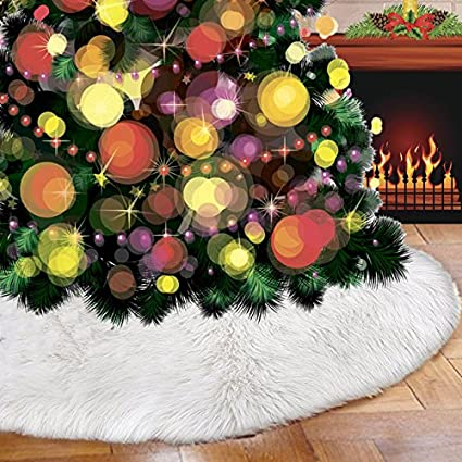 christmas tree skirts 307 faux fur tree ornaments plush handmade tree skirt decoration for indoor