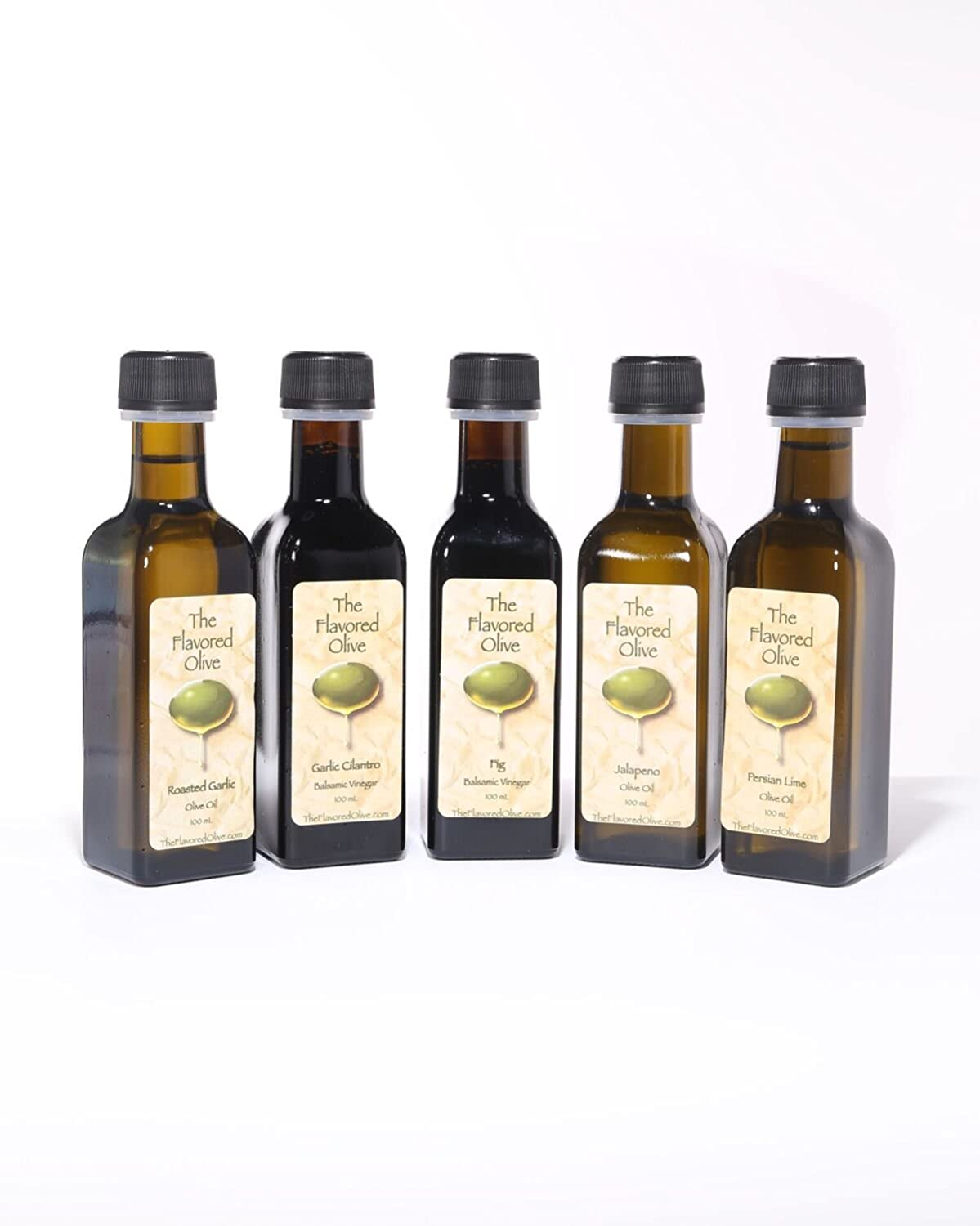 Amazon.com : 4 Small Bottle Sample Pack, Olive Oils, Cold Pressed ...