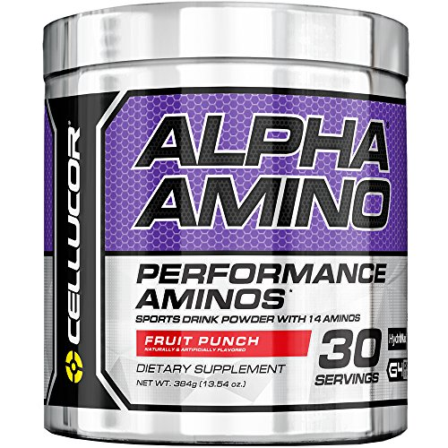 (Cellucor Alpha Amino EAA & BCAA Recovery Powder, Essential & Branched Chain Amino Acids Supplement, Fruit Punch, 30 Servings)