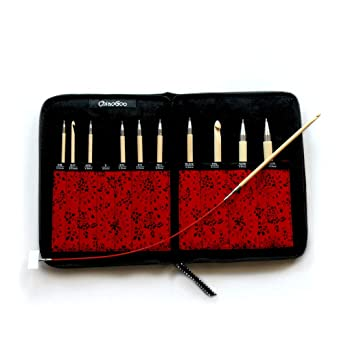 ChiaoGoo T-Spin Tunisian Bamboo 5.7-inch Crochet Hook Set