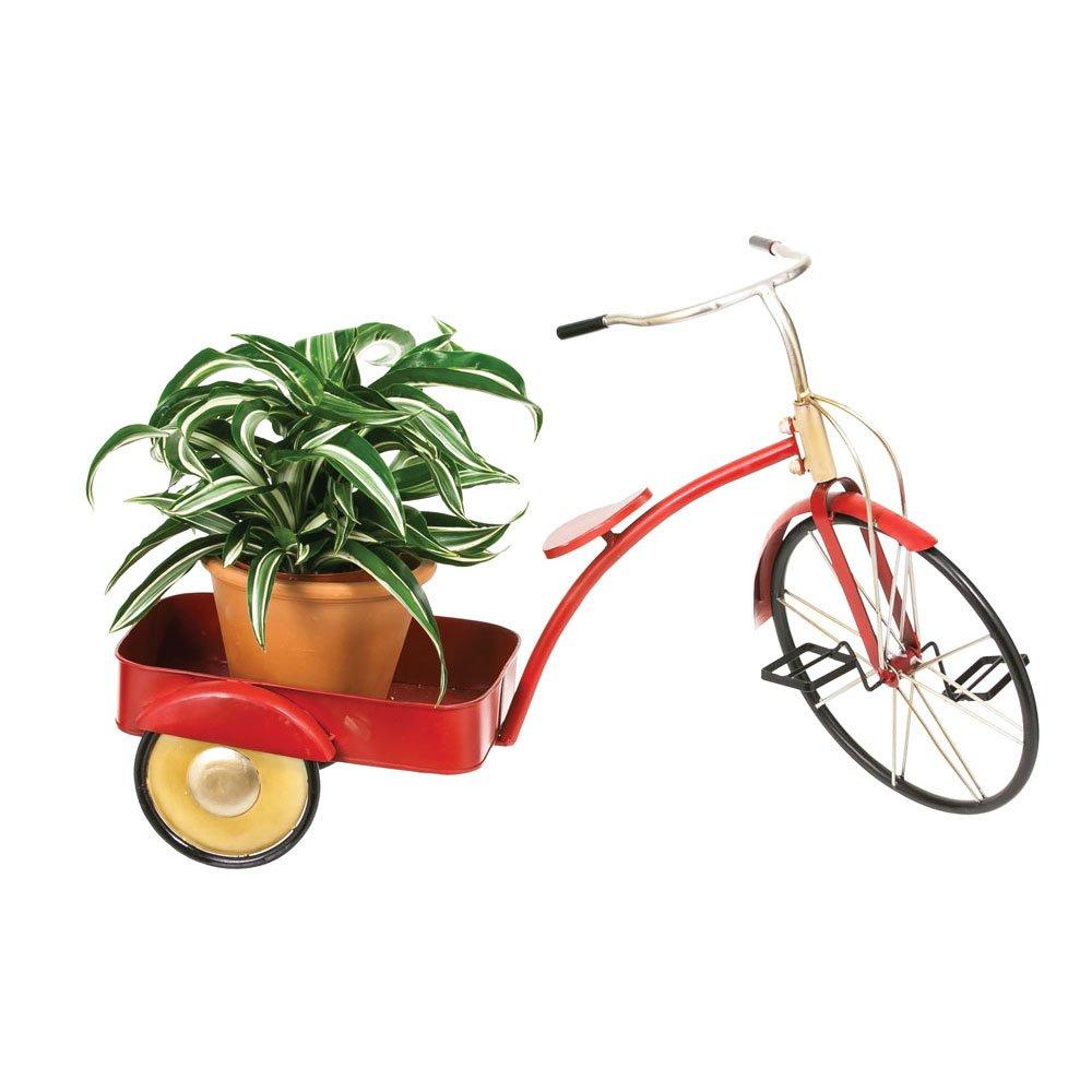 Vintage Rot Dreirad Metall Pflanzgefäß