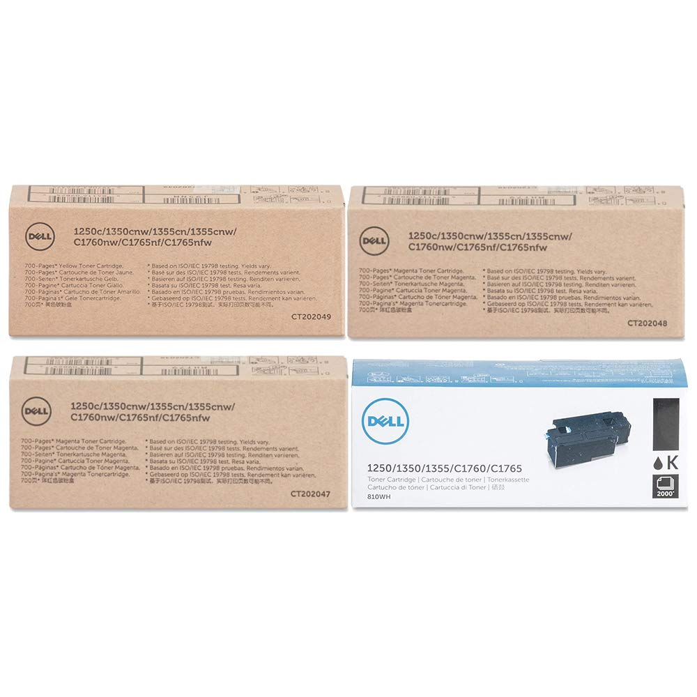 Amazon com: Dell C1760nw Toner Cartridge Set: Office Products