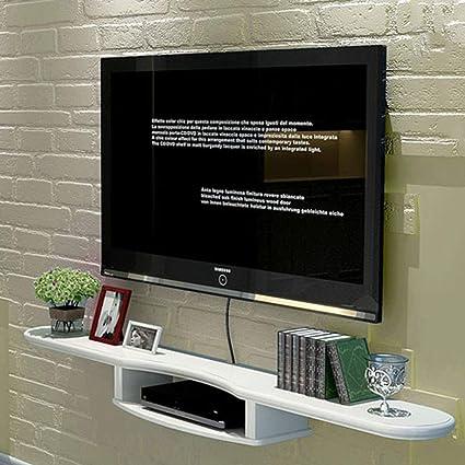 LXYFMS Colgante de Pared Blanco Flotante Moderno Centro de Entretenimiento Soporte para TV repisa TV decodificador de Pared gabinete para Colgar en la Pared Bastidor de enrutador: Amazon.es: Hogar