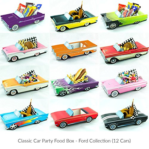 12 Classic Car Party Food Boxes - Ford (Classic Decorations)