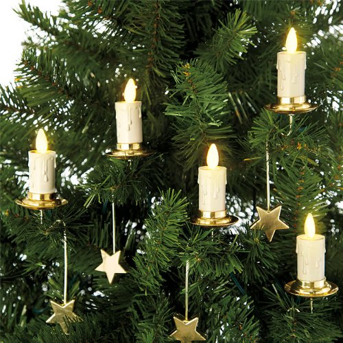 Luminara Christmas Tree Candle Set Of 6 Candles