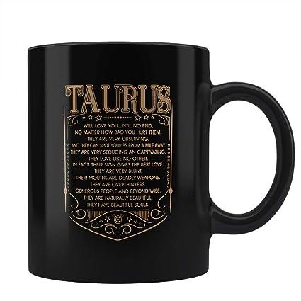 Taurus Zodiac Gifts - Zodiac Gifts Coffee Mugs   Zodiac Sign Taurus Coffee  Mug Zodiac Gifts for Men Women Black Coffee Mug by PosterGuy