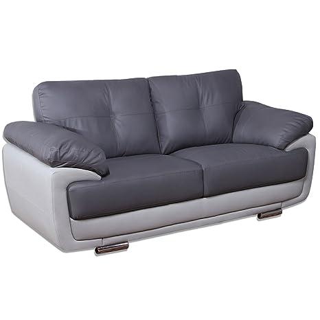 Simply StylisH Sofas Mansfield Gris de Dos Tonos Piel sofás ...