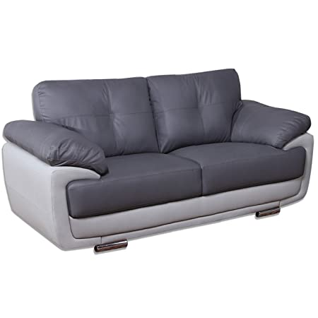 mansfield two tone grey leather sofas all combinations available rh amazon co uk dfs two tone leather sofa two tone leather couch