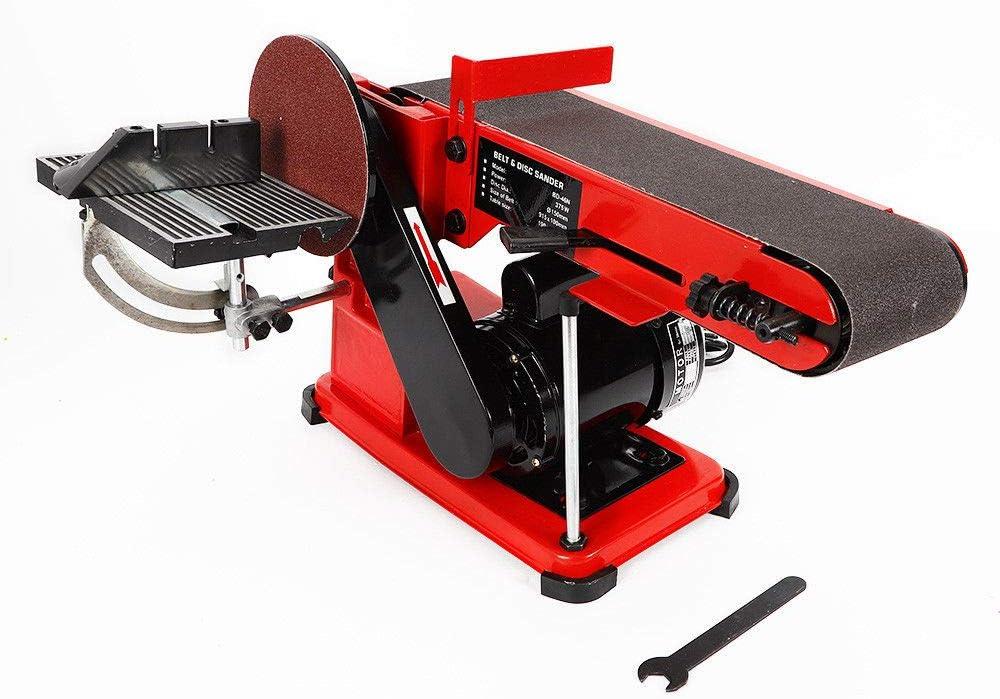 Zephyri 375W Bench Belt and Disc Sander Grinder Benchtop Kit for Metalworking Wood Sanding Linisher
