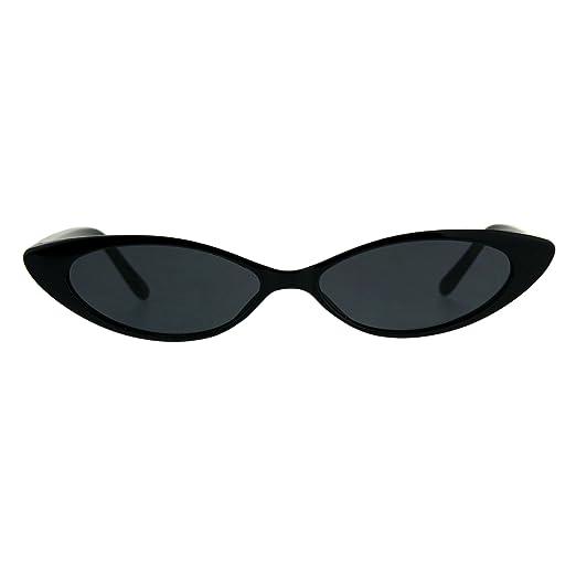 2a2f2482d1a Amazon.com  Womens Ultra Thin Narrow Cat Eye Goth Plastic Sunglasses ...