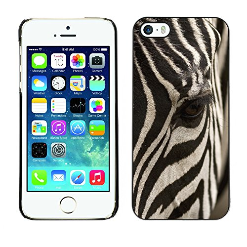 Hülle Case Schutzhülle Cover Premium Case // V00002197 Zebra // Apple iPhone 5 5S 5G