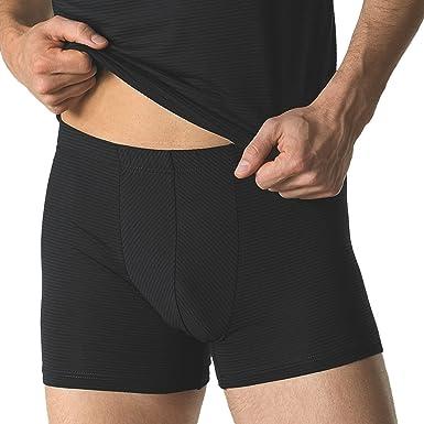 viele modisch riesige Auswahl an 2019 authentisch Ammann 2er Pack Herren Pants Retro-Shorts - Cotton & More - Unterhose ohne  Eingriff - Modal-Baumwoll-Elastan Mischung - Schwarz Dunkel-Blau Weiß - ...