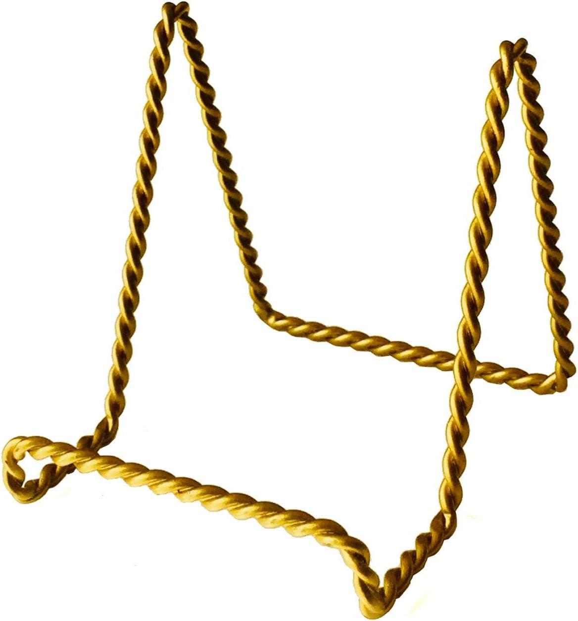 Staffelei Moments Staffeleist/änder geflochten 7,6 x 7,6 cm 12 St/ück Satin-Gold-Finish