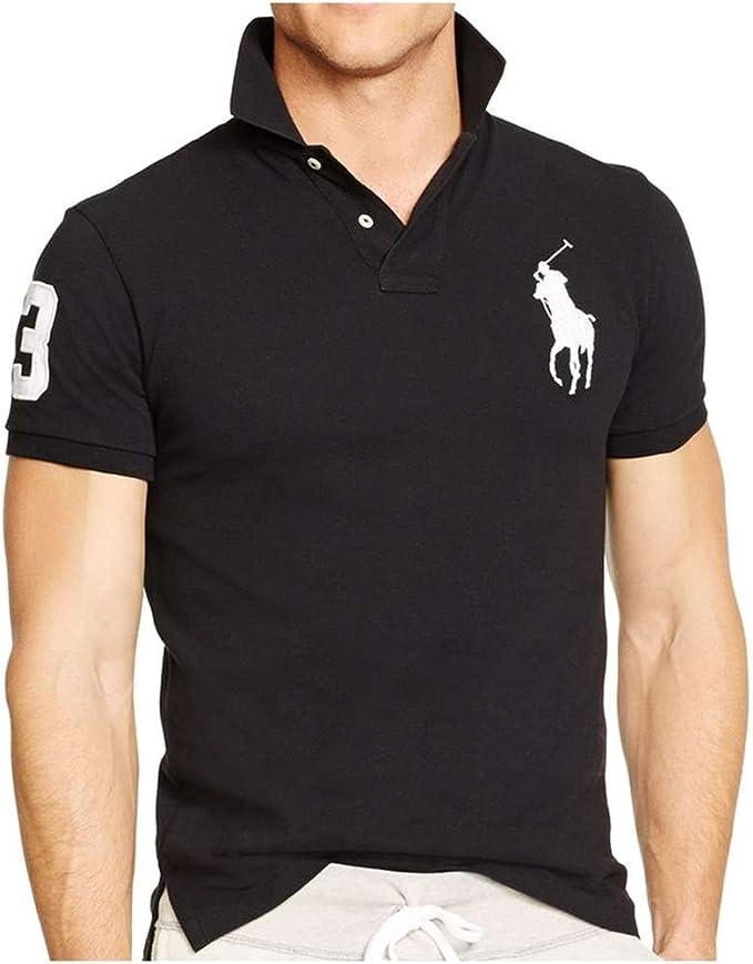 Polo Ralph Lauren 710655399010 Polo Hombre Negro L: Amazon.es ...