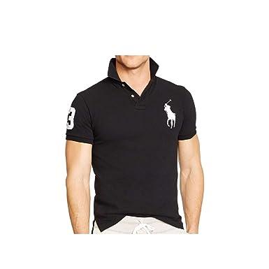 d9565700537d Polo Ralph Lauren 710655399010 Polo Homme Noir L  Amazon.fr ...