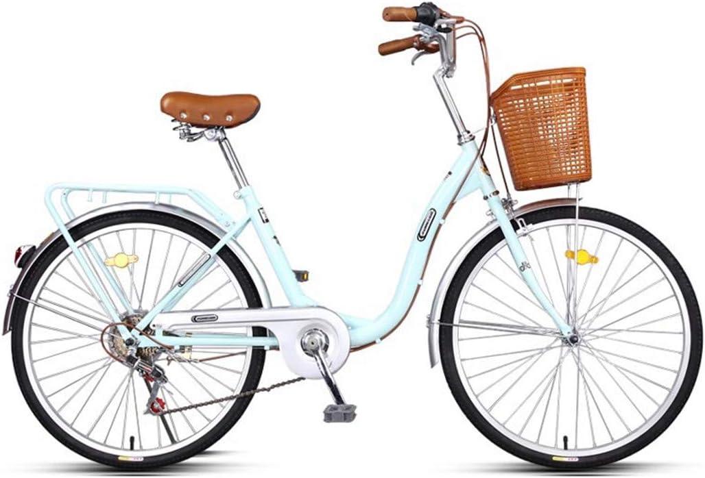 Bicicleta De Ciudad De 24 Pulgadas 6 Velocidades Bici para Adultos ...
