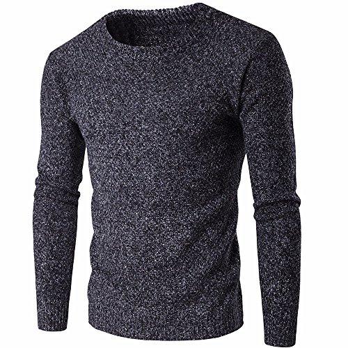 Spessa Autunno E Maglia Scuro Caldo In Moda Inverno Maglione Degli Semplice Casual Grigio Cappotto Uomini Camicia wYI7FO
