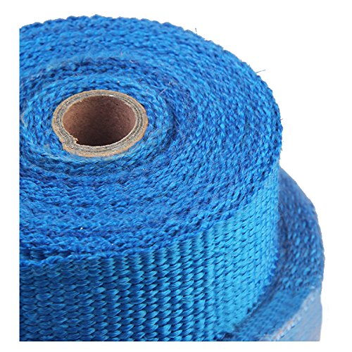 Insulation cloth - SODIAL(R) 5M High Temperature Header Manifold Exhaust Wrap Fiberglass Roll Blue