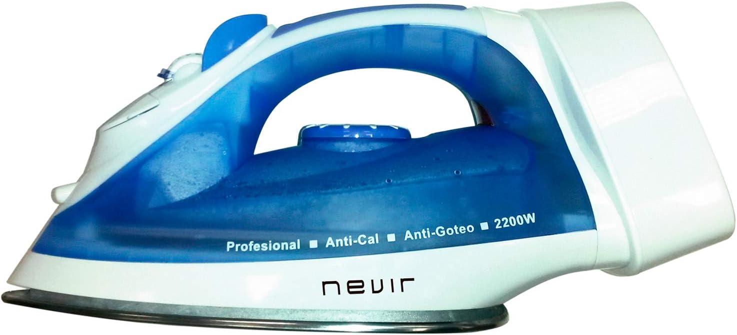 Nevir Plancha Vapor NVR3582 PR 2200W RECOGECABLES
