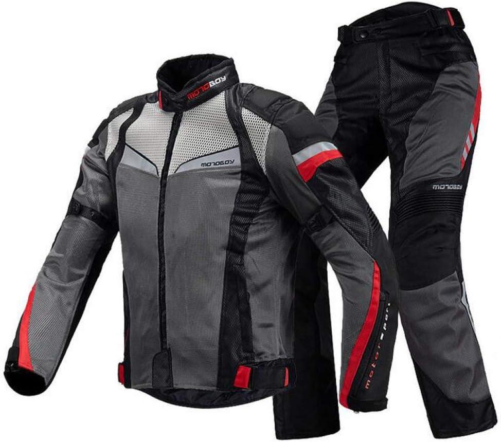 H-Motorcycle Jackets Veste De Moto Homme Imperm/éable Veste Maille Respirante /Équipements Protection