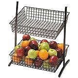 2-Tier Stand Countertop Merchandising Stand Espresso Wire - 16 1/2 L x 13 1/4 W x 19 1/4 H