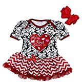 Kirei Sui Baby First Valentine's Day Damask Bodysuit S