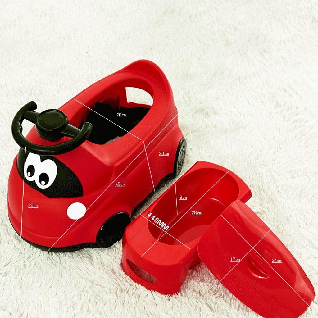 BABYUSD Augmentation Toilette for Enfants Toilette for b/éb/é Fille B/éb/é Infantile Enfant Voiture B/éb/é Pot 1-3-6 Ans Urinoir Color : Rouge, Taille : Have Wheels