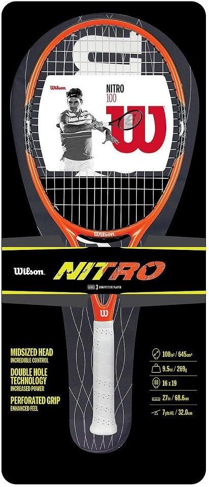 Amazon.com: Wilson Nitro 100 Raqueta de tenis: Toys & Games